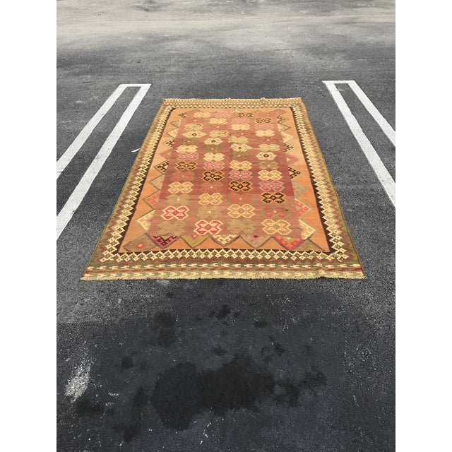 Persian, Qashqai Hand-Woven Kilim, From Iran For Sale In Miami - Image 6 of 6