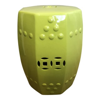 Octagonal Ceramic Garden Stool For Sale