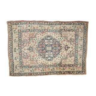 "Antique Kerman Square Rug Mat - 1'10"" X 2'8"""