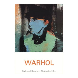 Andy Warhol, Portrait of Man Ray, 1980, Offset Lithograph For Sale