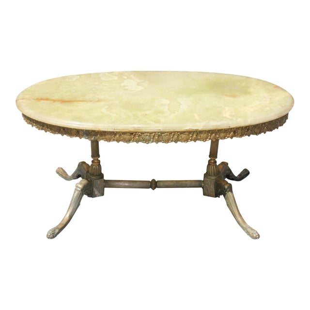 1940s Maison Jansen Art Deco Oval Coffee Table For Sale - Image 13 of 13