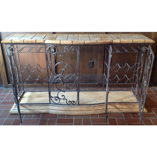 Henredon Registry Collection Terra Cotta & Wrought Iron Console For Sale - Image 12 of 12