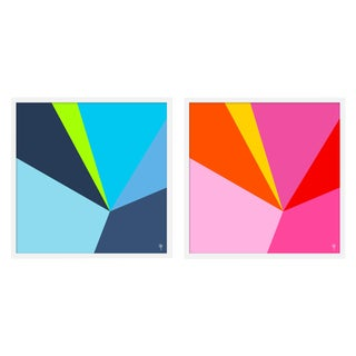 """Large """"Fractured Brights Iii, Set of 2"""" Print by Wendy Concannon, 50"""" X 25"""" For Sale"""