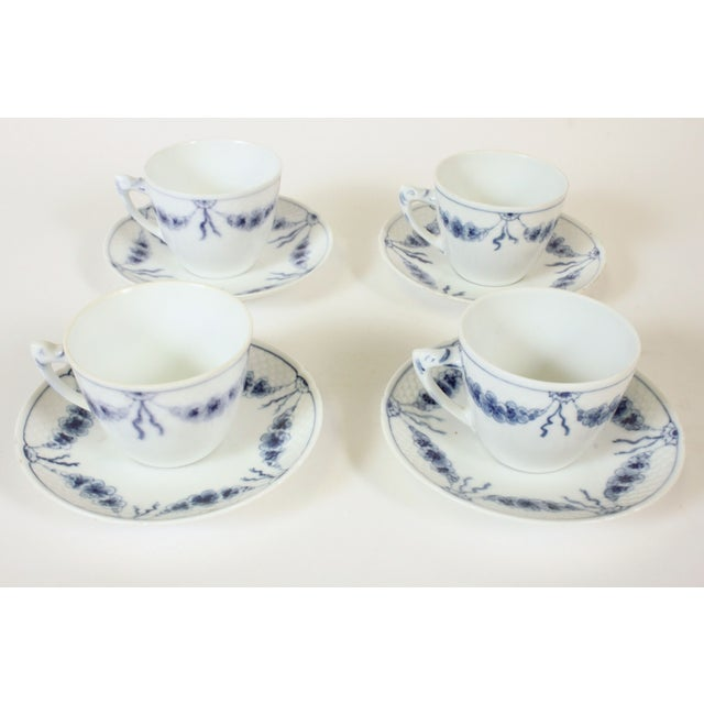 B&G Empire Blue Cups & Saucers- Set of 4 - Image 2 of 4
