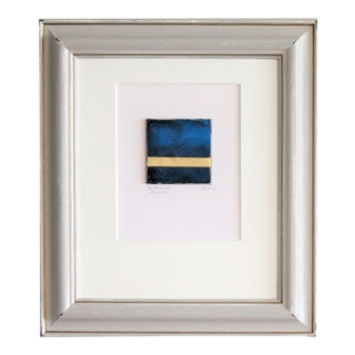 C. Damien Fox Oil and Gold Leaf Abstracts, Framed 2020, a Pair. For Sale