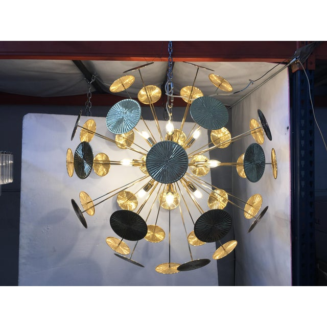 Early 21st Century Gold Metal Frame Sputnik Chandelier For Sale - Image 9 of 11