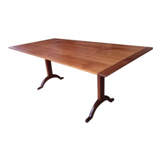 Shaker Cherry Trestle Dining Table For Sale