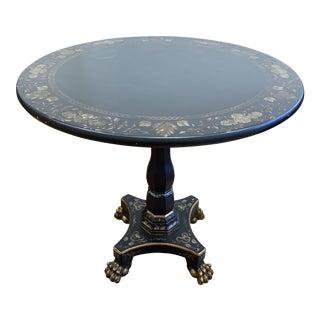 John Widdicomb Mario Buatta Collection Decorated Round Table For Sale