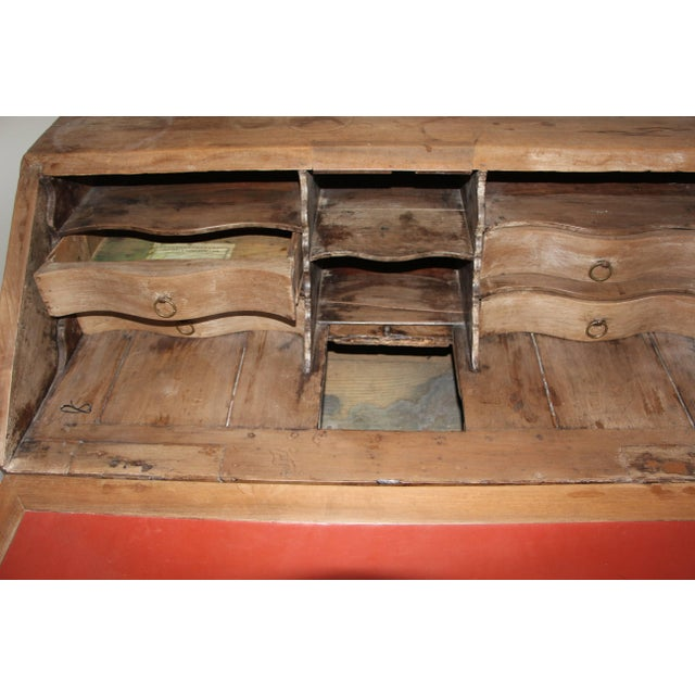 French Provincial 18th Century French Provincial Slant Front Desk With Hidden Compartment For Sale - Image 3 of 10