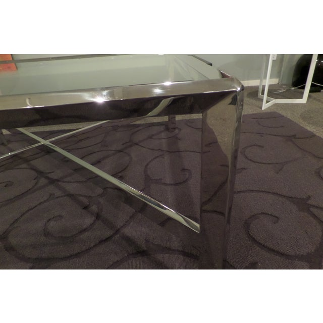 Chrome & Glass Cocktail Table - Image 7 of 7