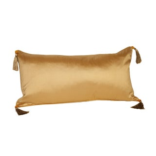Silk Solid Gold 12x24 Pillow