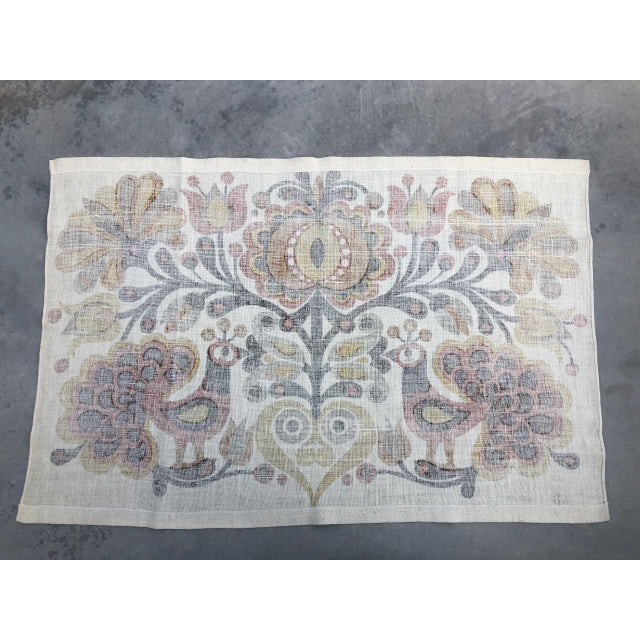 Södahl/Sodahl Denmark Peacock and Floral Wall Tapestry For Sale - Image 10 of 12