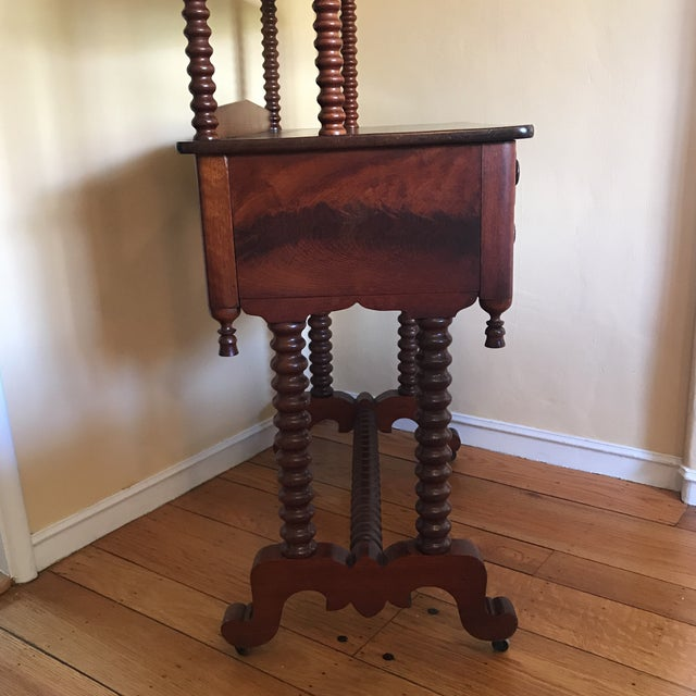 Late 19th Century Antique Spool Turned Desk Etagere For Sale - Image 4 of 13