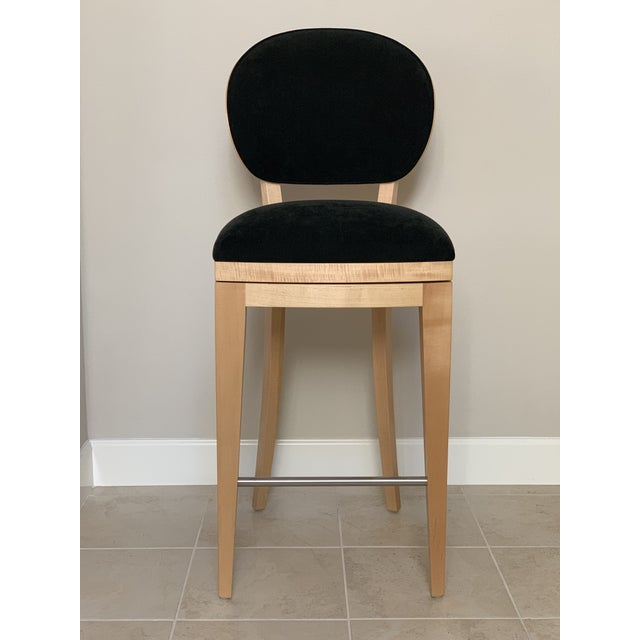Superbly stylish with timeless style, these swivel-seat bar height stools were designed by renowned contemporary furniture...