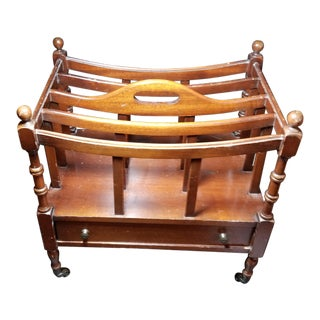 English Traditional Mahogany Canterbury Rack For Sale