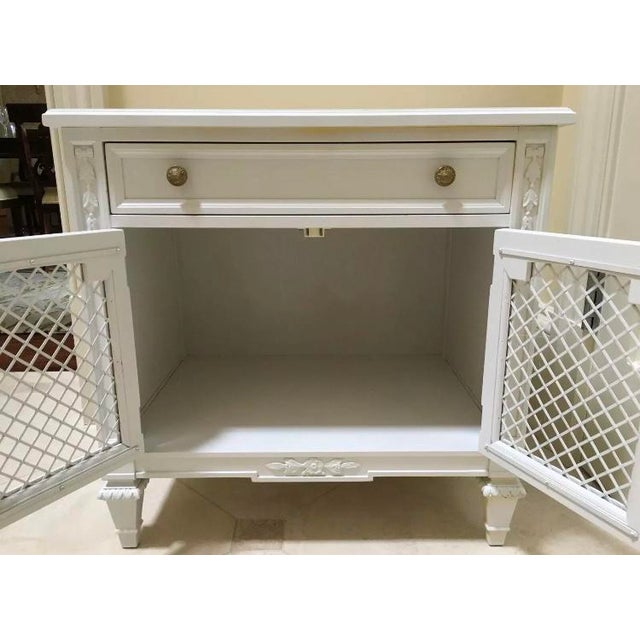 Traditional White Kindel Nightstand Cabinet For Sale - Image 3 of 7