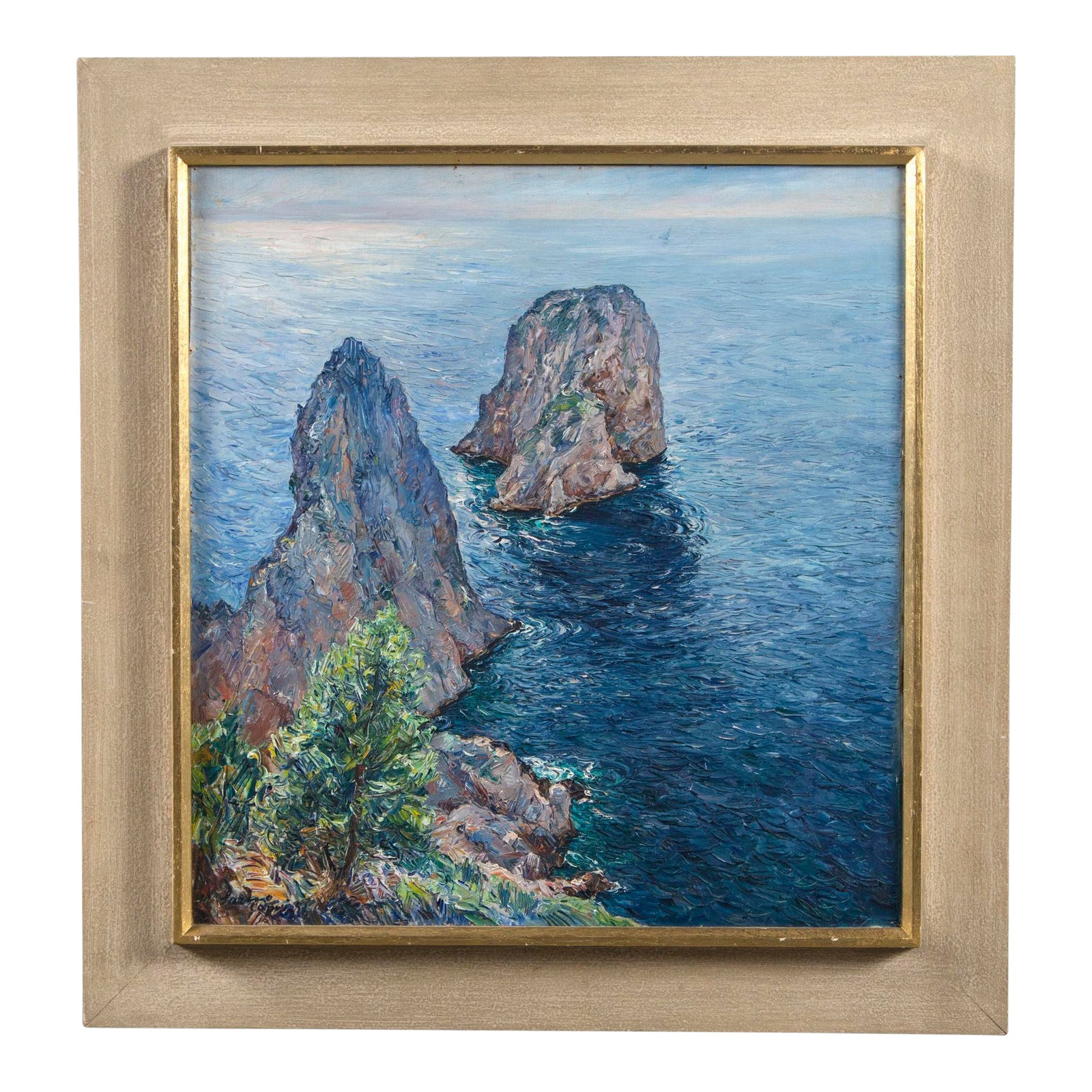 Idea Casa Full Sarno isle of capri oil painting signed matteo sarno