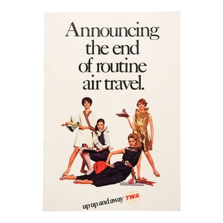 1968 Twa Foreign Accent Flights Advertising Brochure For Sale