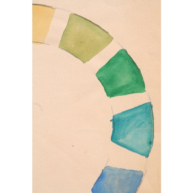 Contemporary Watercolor Color Wheel by Kathryn Bernard For Sale - Image 3 of 5