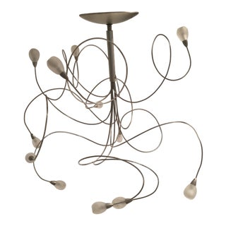 Chaos Polished Metal Ceiling Fixture For Sale
