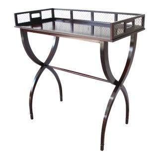 Barbara Barry for Baker Furniture Dark Mahogany Drink Tray Table