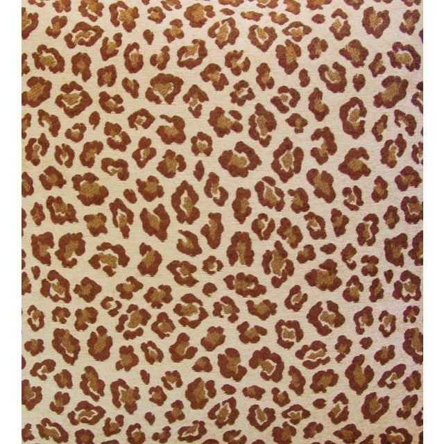 "Leopard Safari Velvet Feather/Down Pillows 24"" Square - Pair For Sale - Image 4 of 9"