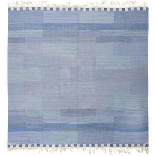 Vintage Swedish Kilim Rug by Marianne Richter for Marta Maas - 7′4″ × 7′6″ For Sale