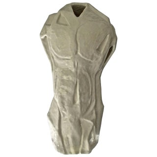 Modernist Glazed Ceramic Torso Sculpture For Sale