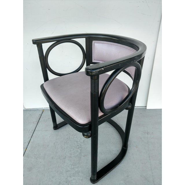 Vintage Joseph Hoffmann Style Wrap-Around Armchairs - Set of 4 For Sale In Miami - Image 6 of 12