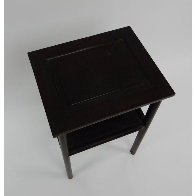 Antique Chinese Zitan Two-Tier Wood Side Table For Sale - Image 10 of 11