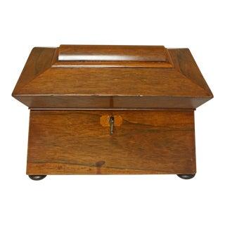 English Tea Caddy, C. 1830 For Sale