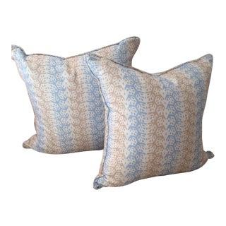 Sister Parish Cecil Stripe Textile Pillows - a Pair