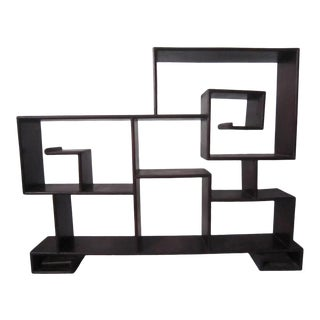 Rosewood Chinoiserie Tabletop Shelf For Sale