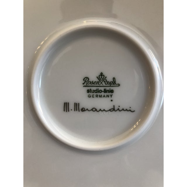 Turquoise Vintage Rosenthal Germany Signed Marcello Morandini Alphabet Plate For Sale - Image 8 of 11