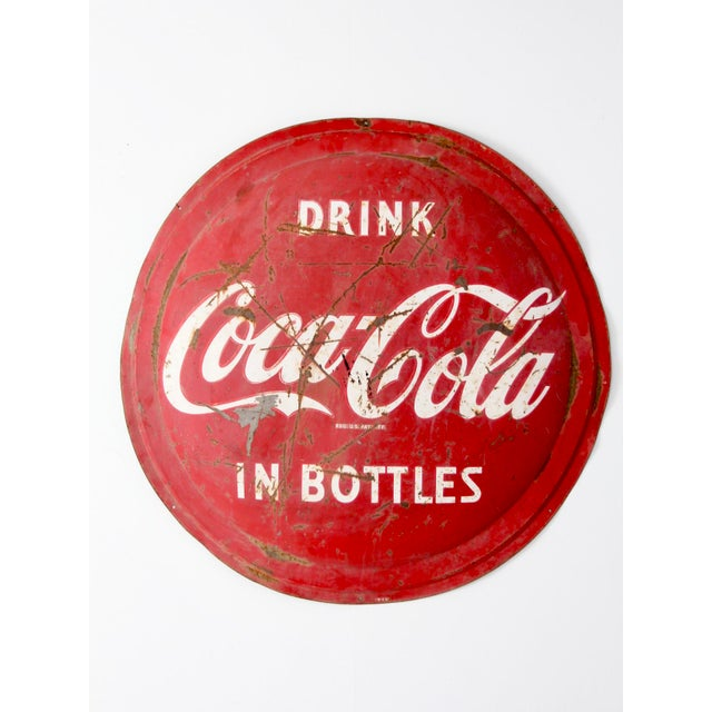 1950s Coca Cola Sign For Sale - Image 6 of 8