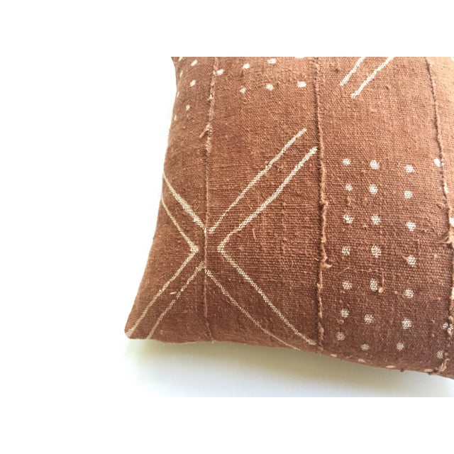 African Mudcloth Rust Pillow Cover - Image 3 of 7