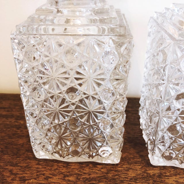 1960s Glass Decanters, Set of 2 For Sale - Image 5 of 8