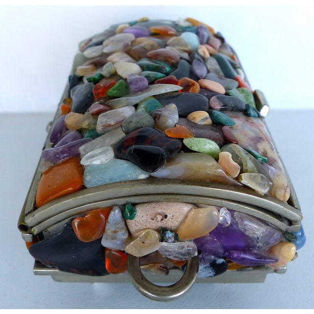 Stone Encrusted Domed Trinket Box - Image 4 of 7