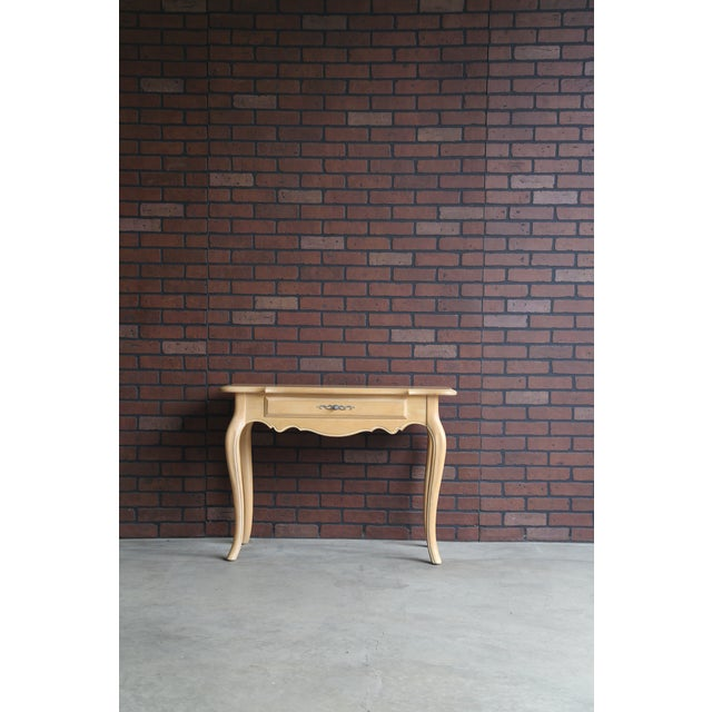 Wood 1990s French Country Ethan Allen Console For Sale - Image 7 of 7