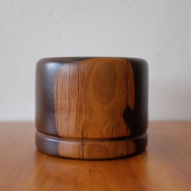A hand-turned cocobolo vessel by Mexican Modernist, Don Shoemaker. Mexico, 1970s. Don Shoemaker was born in Nebraska. He...