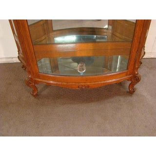 19th Century French Victorian Large China Cabinet With Shaped Glass Preview