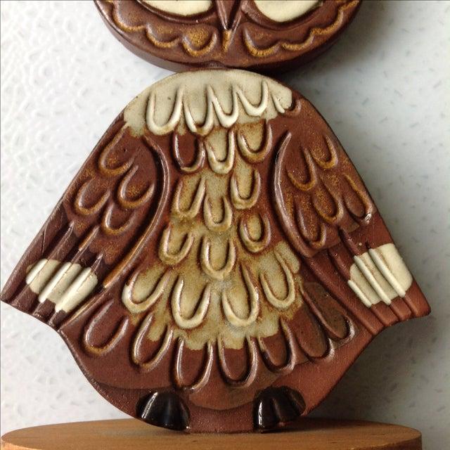 Mid-Century Modern Studio Pottery Owl Sculpture - Image 6 of 9