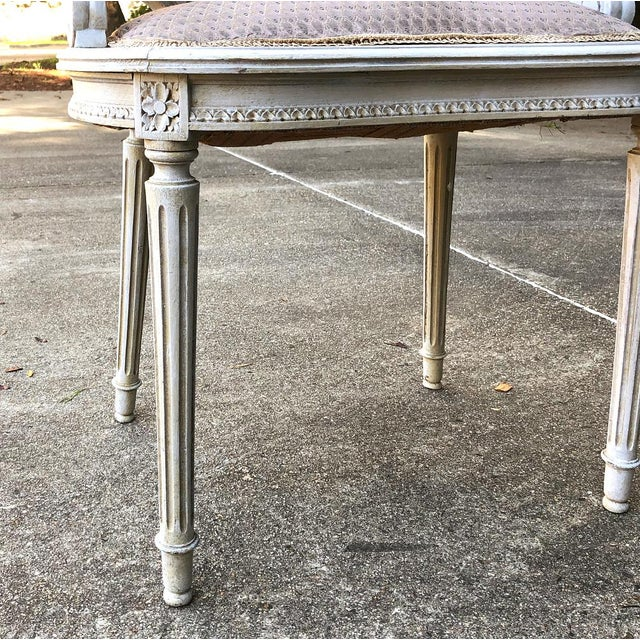 Antique French Louis XVI Painted Armchairs - a Pair For Sale In Baton Rouge - Image 6 of 10