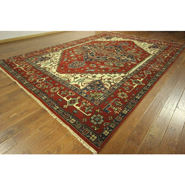 Heriz Oriental Hand Knotted Area Rug - 9'10 x 14' - Image 2 of 10