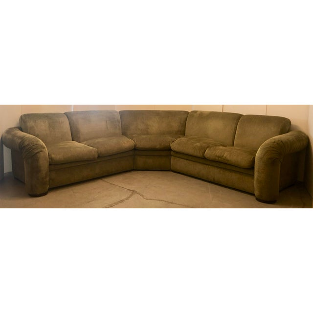 Olive Green 3 Piece Sectional From 80s For Sale - Image 13 of 13