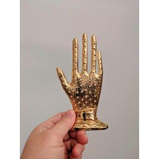 Boho Chic Brass Hand Desktop Sculpture Preview
