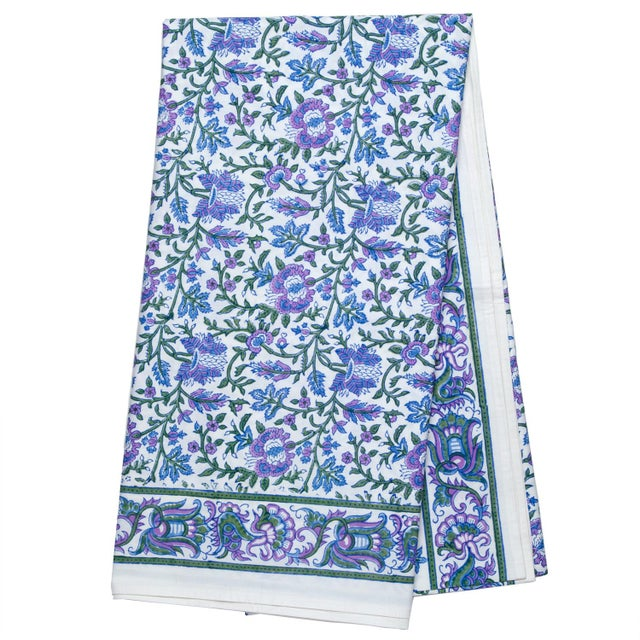 Aria Tablecloth, 4-seat table - Lavender & Blue For Sale - Image 4 of 4