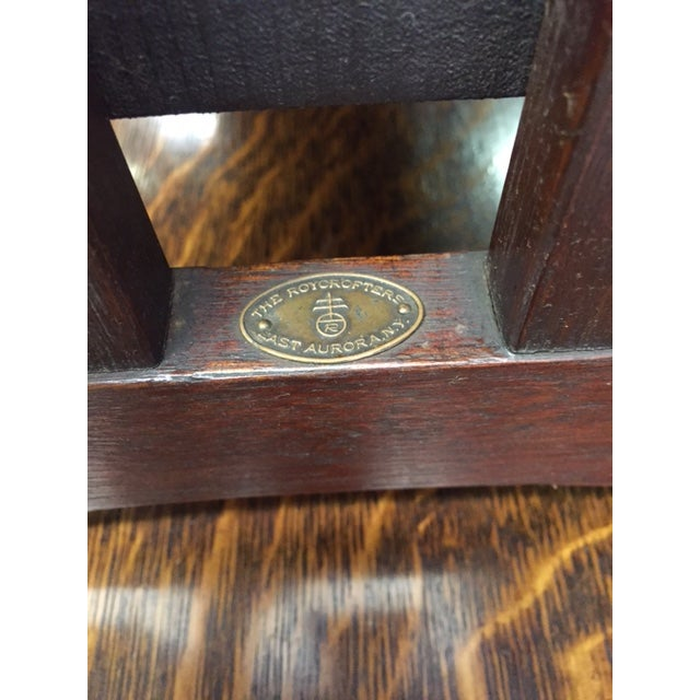 Roycroft Antique Mission Mahogany Journeys Stand For Sale - Image 10 of 10