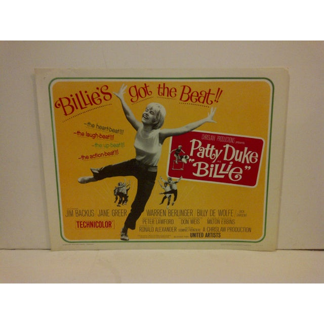 "A vintage movie poster for ""Billies Got The Beat"" starring Patty Duke. 65/292. Copyright 1965. United Artists Corporation...."