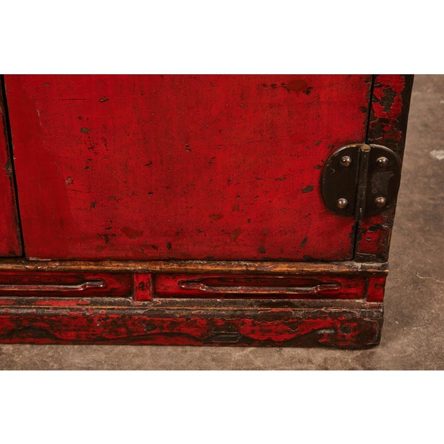 Mid 18th Century 18th Century Chinese Pair of Two Door Cabinets For Sale - Image 5 of 10